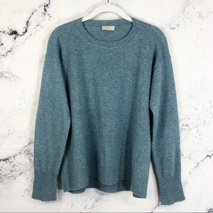 Wrap London lamb wool elbow patches sweater Sz 10